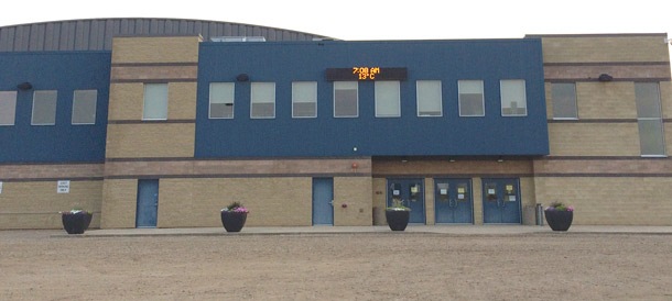 Viking town office has moved to the Carena Complex. Space in the Civic Centre (pictured below in article), where the office was formerly located will be offered for rent. Beaver Emergency Services Commission will remain in the Civic Centre.