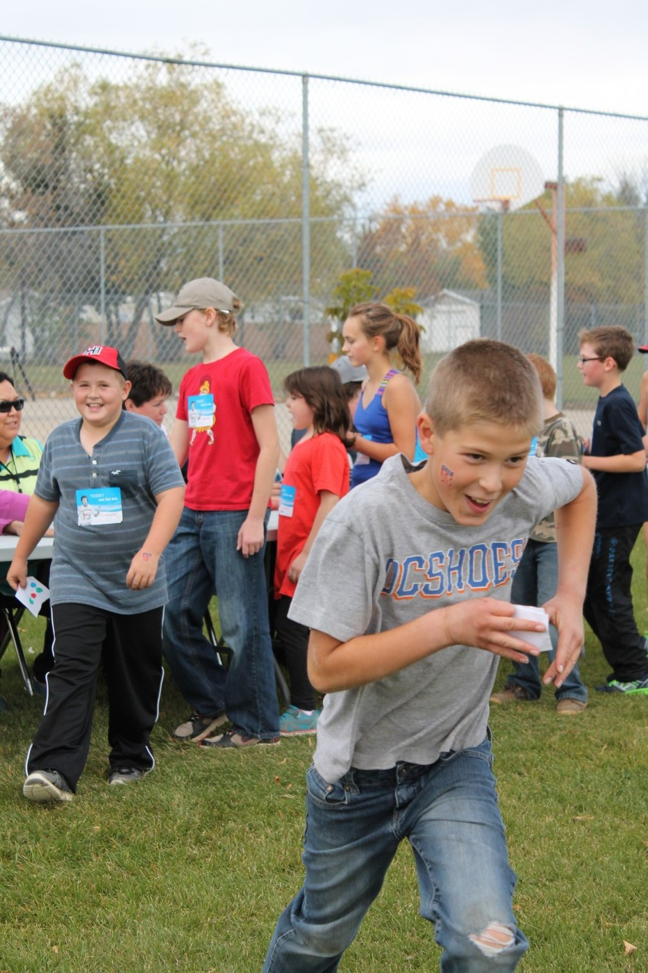 Terry Fox Run-Grey shirt boy